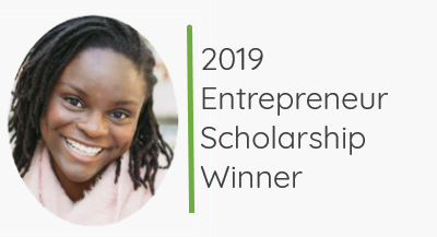 2019 Entrepreneur Scholarship Winner