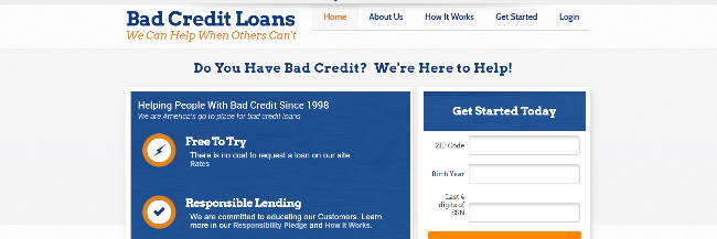 Bad credit loan options: badcreditloans.com review
